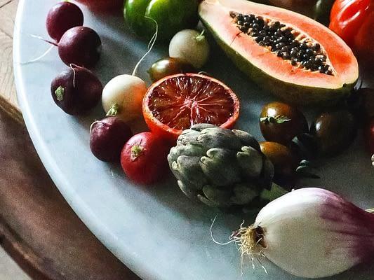 Frutta, purea di frutta